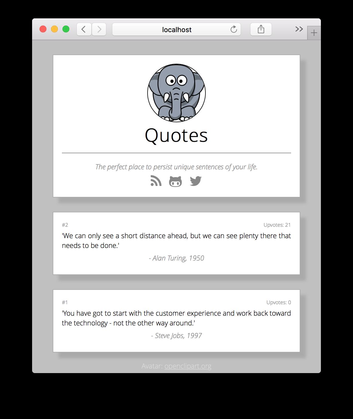 Quotes' UI