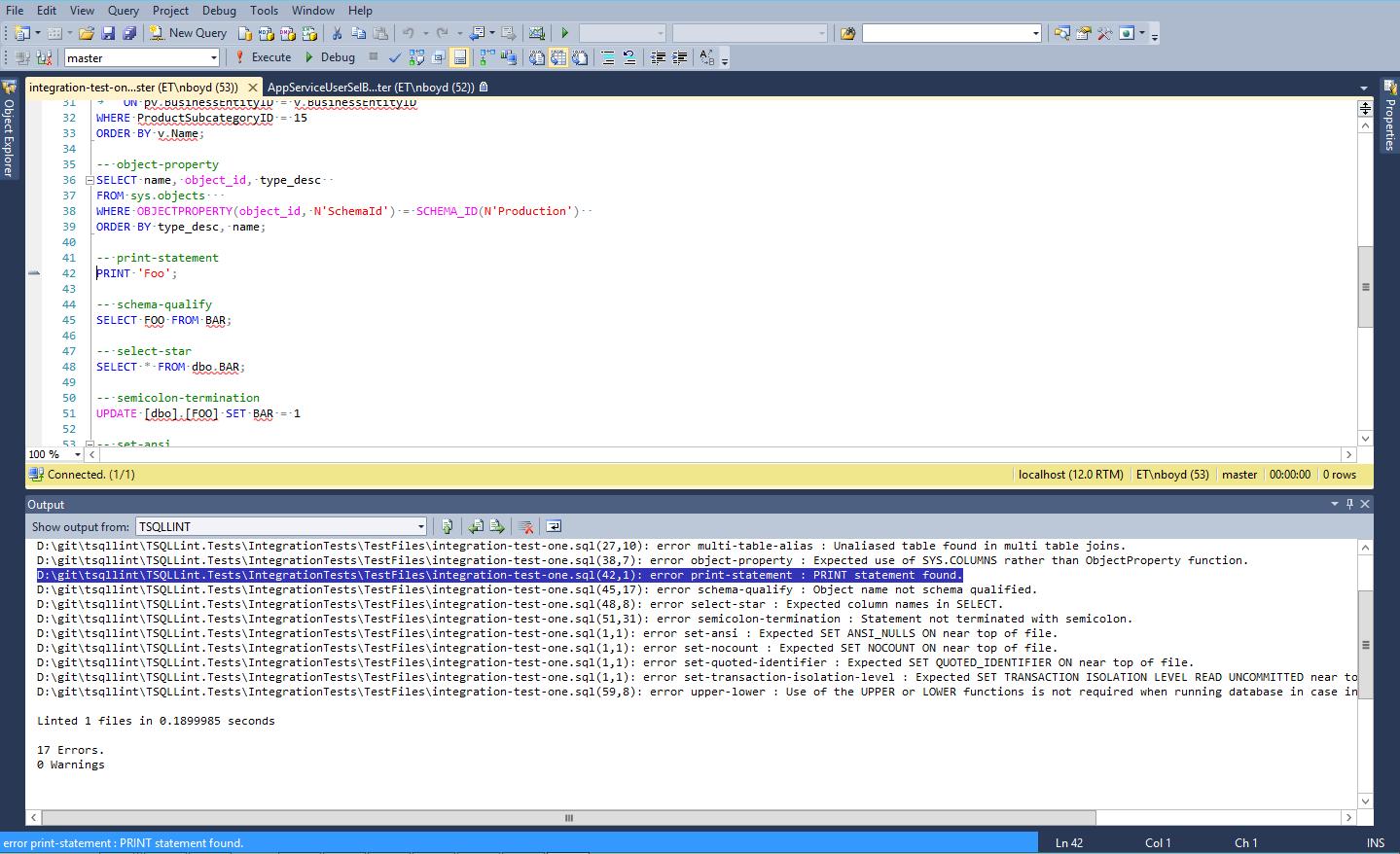 SSMS Integration Image