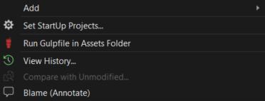 Run Gulpfile in Assets Folder