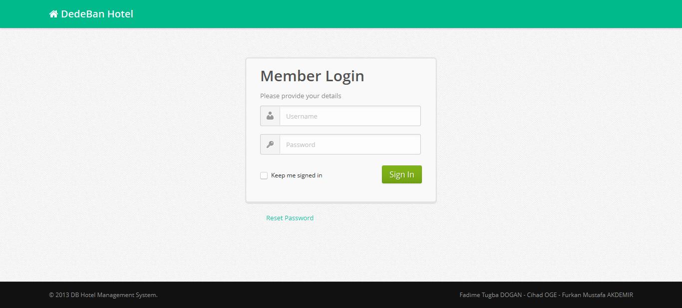 GitHub - tugbadogan/hotelmanagement: Hotel Management Software