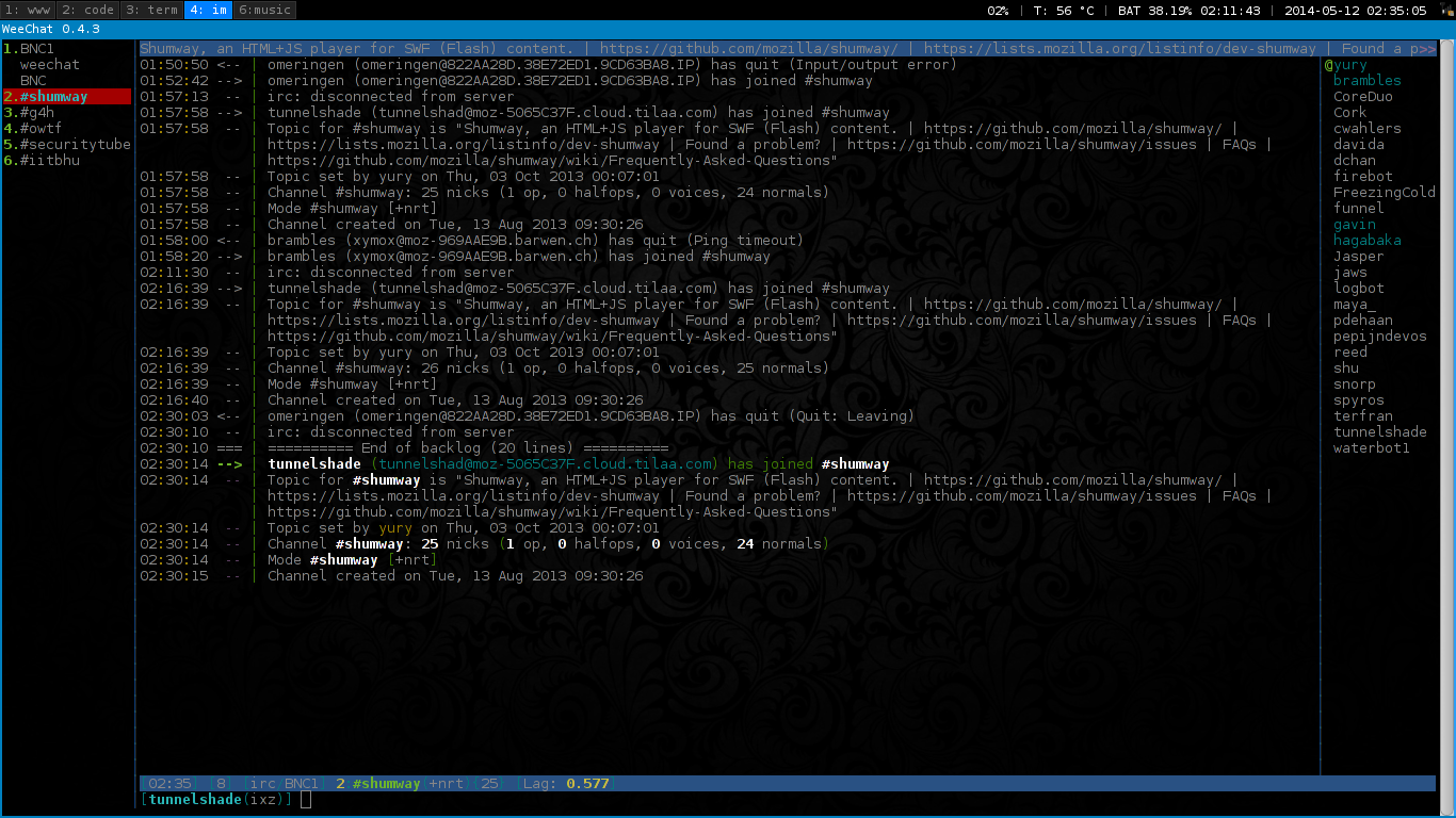 IRC Screen