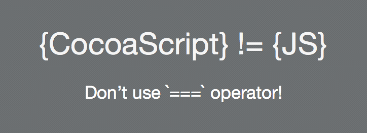 Don't use strict equal operator