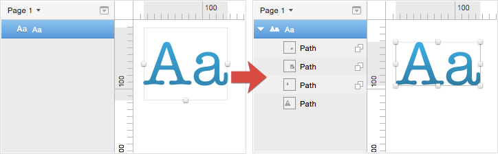 Convert Text Layer to Outlines