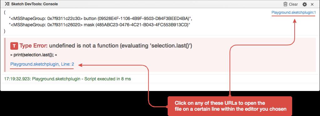 Jump to code URLs