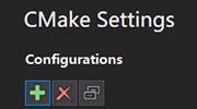 CMake Settings panel