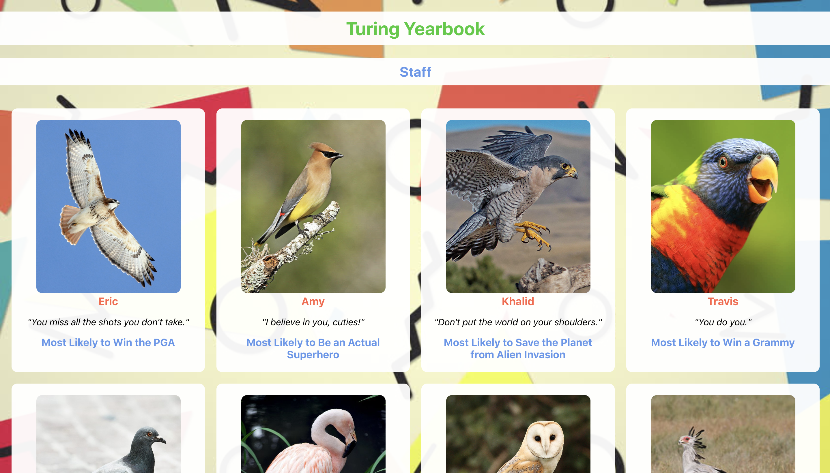 turing yearbook screenshot