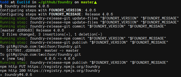 Example foundry-release