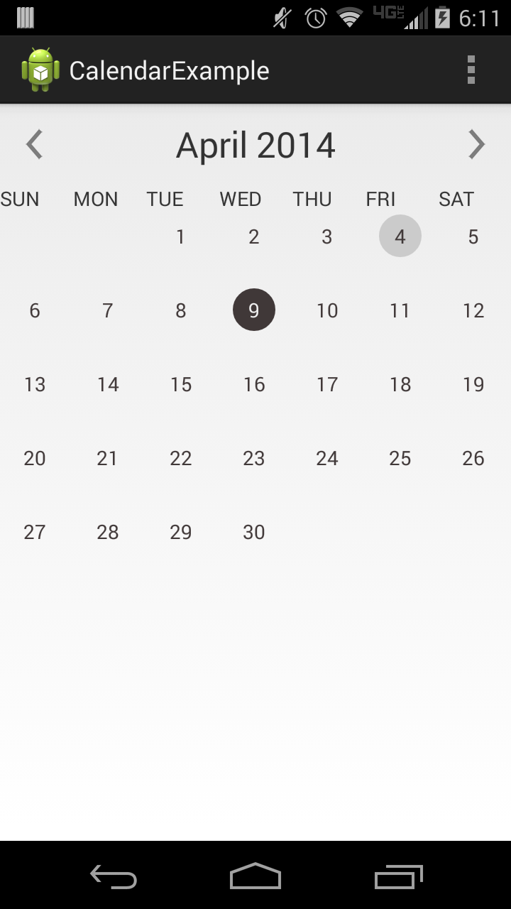 Calendar Layout Android : The android arsenal date time pickers