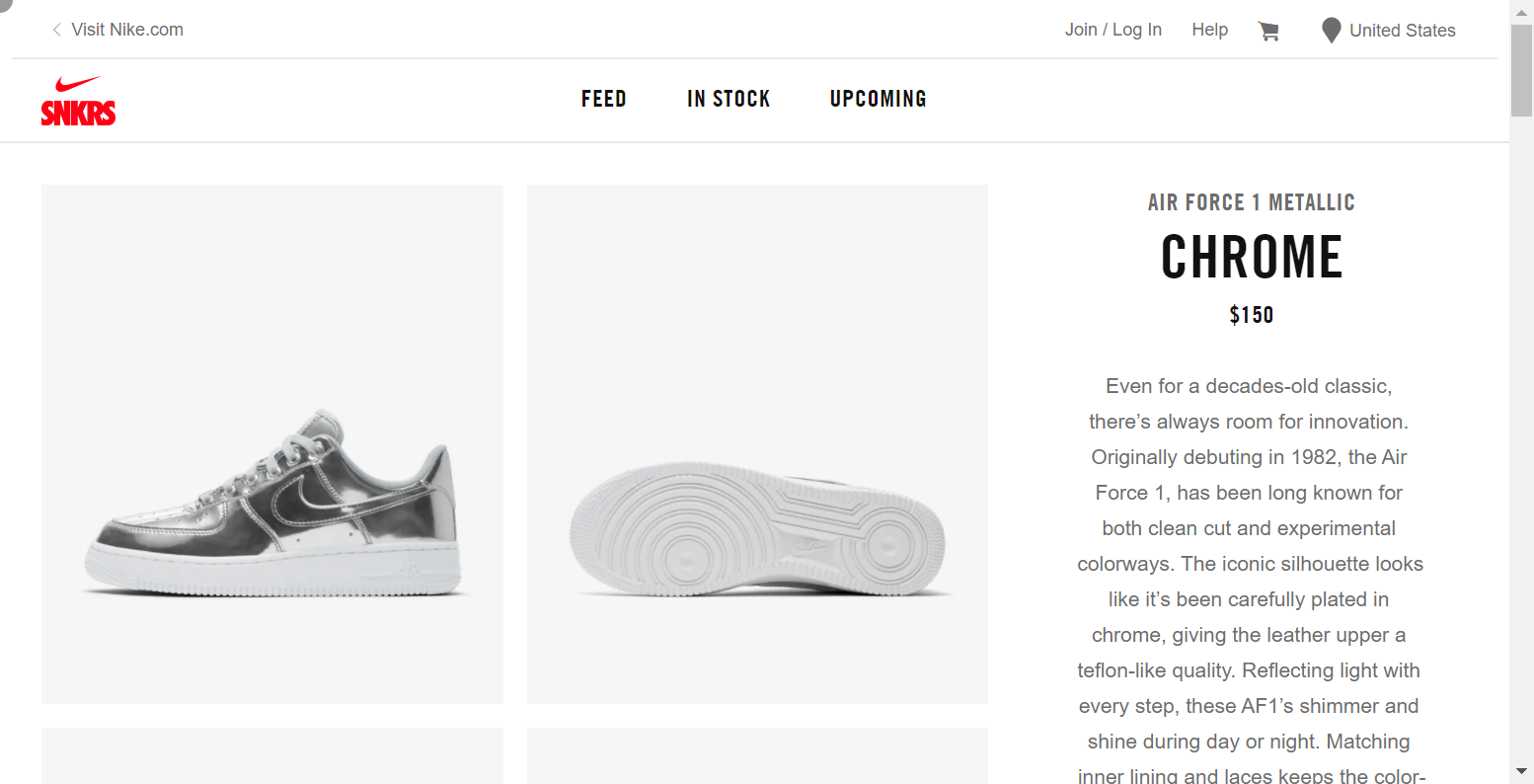 Round 1 - Loading the shoe page