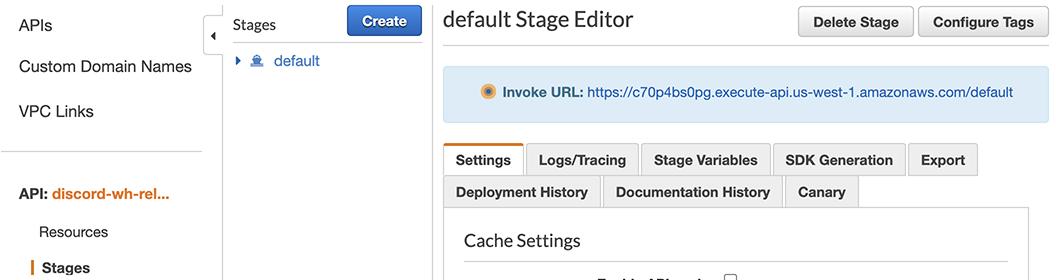 Getting the Invoke URL