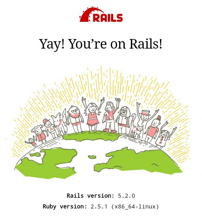 rails welcome page