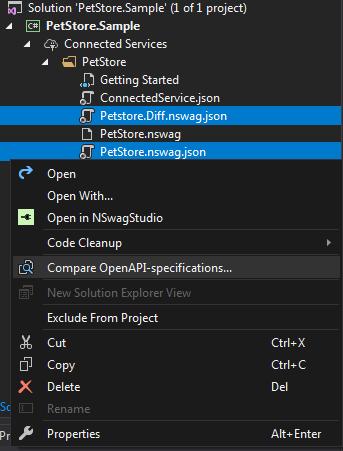Compare OpenAPI Specifications Command