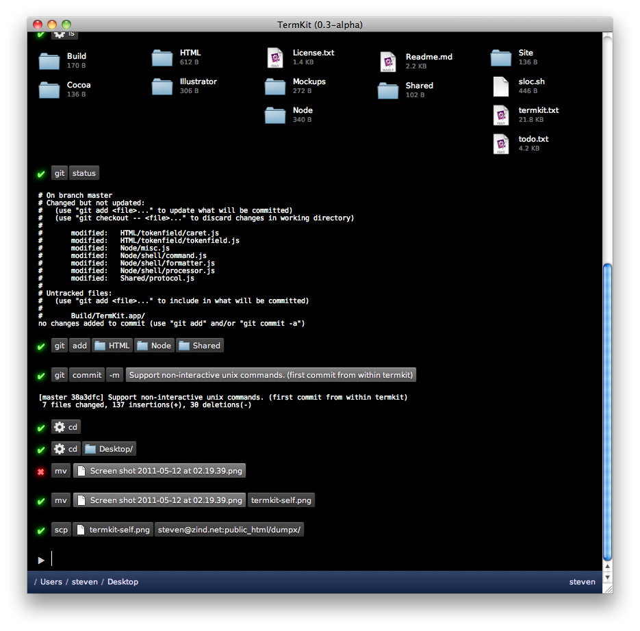 TermKit 0.3 alpha
