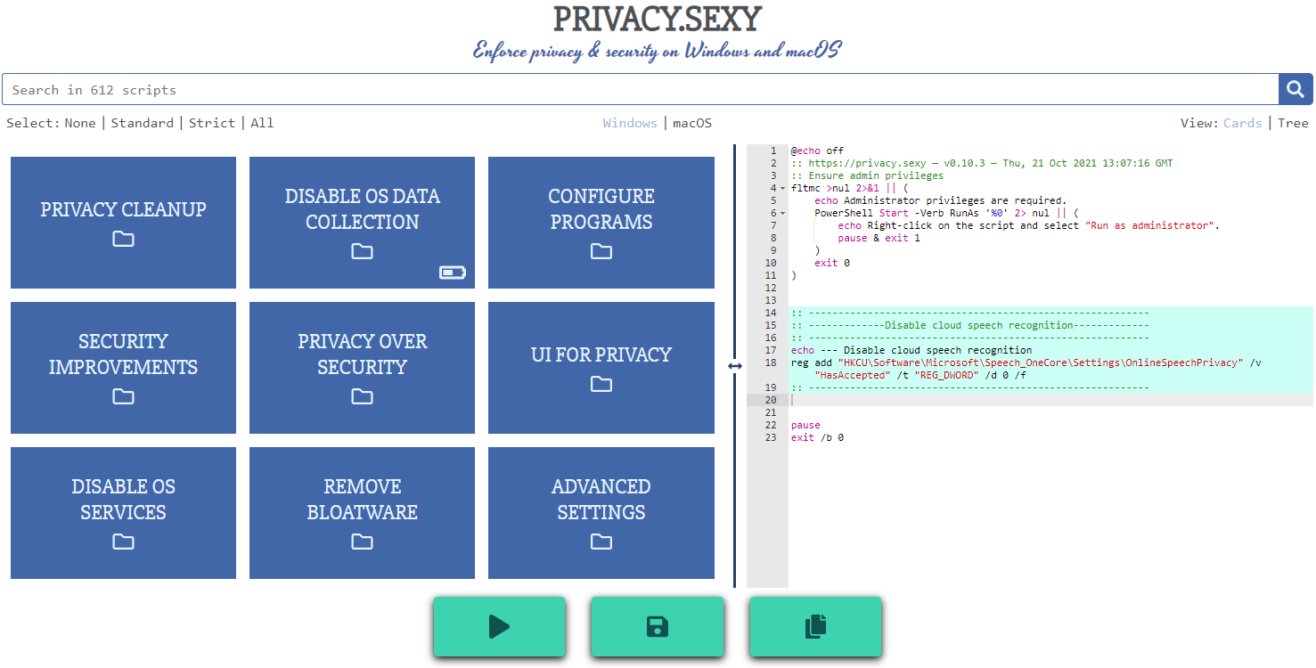privacy.sexy application