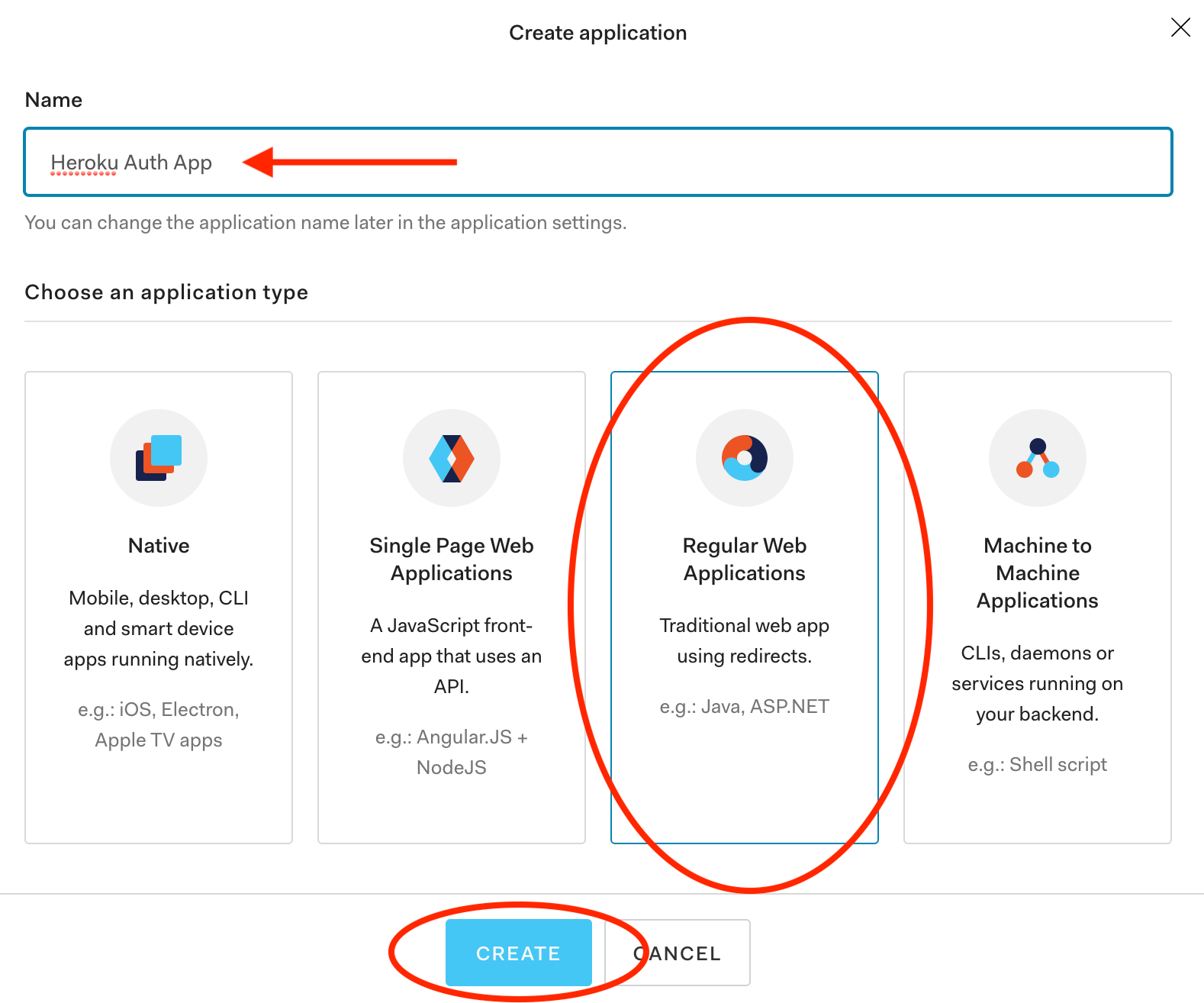 Create Regular Web Application