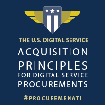 Graphic with words Acquisition Principles for Digital Service Procurements