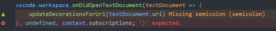 ErrorLens example