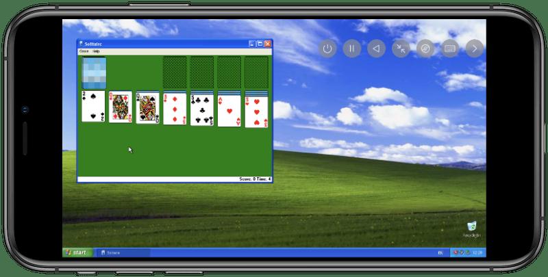 Screenshot of UTM running on iPhone