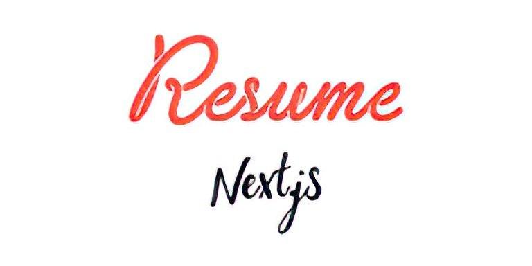 Resume Next.js Logo