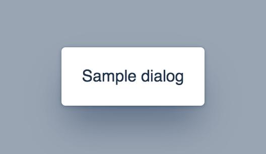 Screenshot of vaadin-dialog