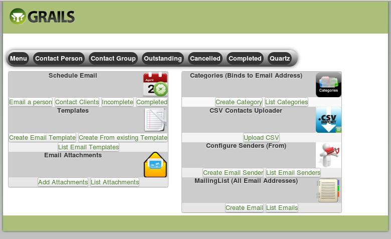 mailinglist menu