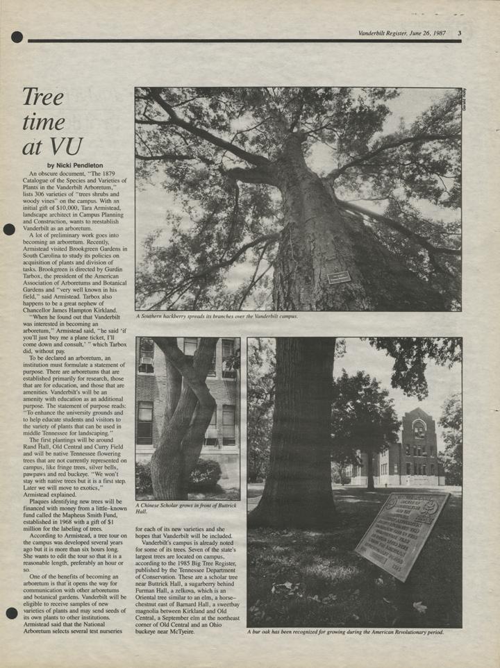 Facts About The Arboretum Vanderbilt Arboretum Vanderbilt University