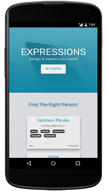 Expressions Mobile App