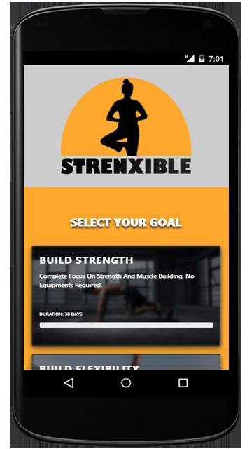 Strenxible Mobile App