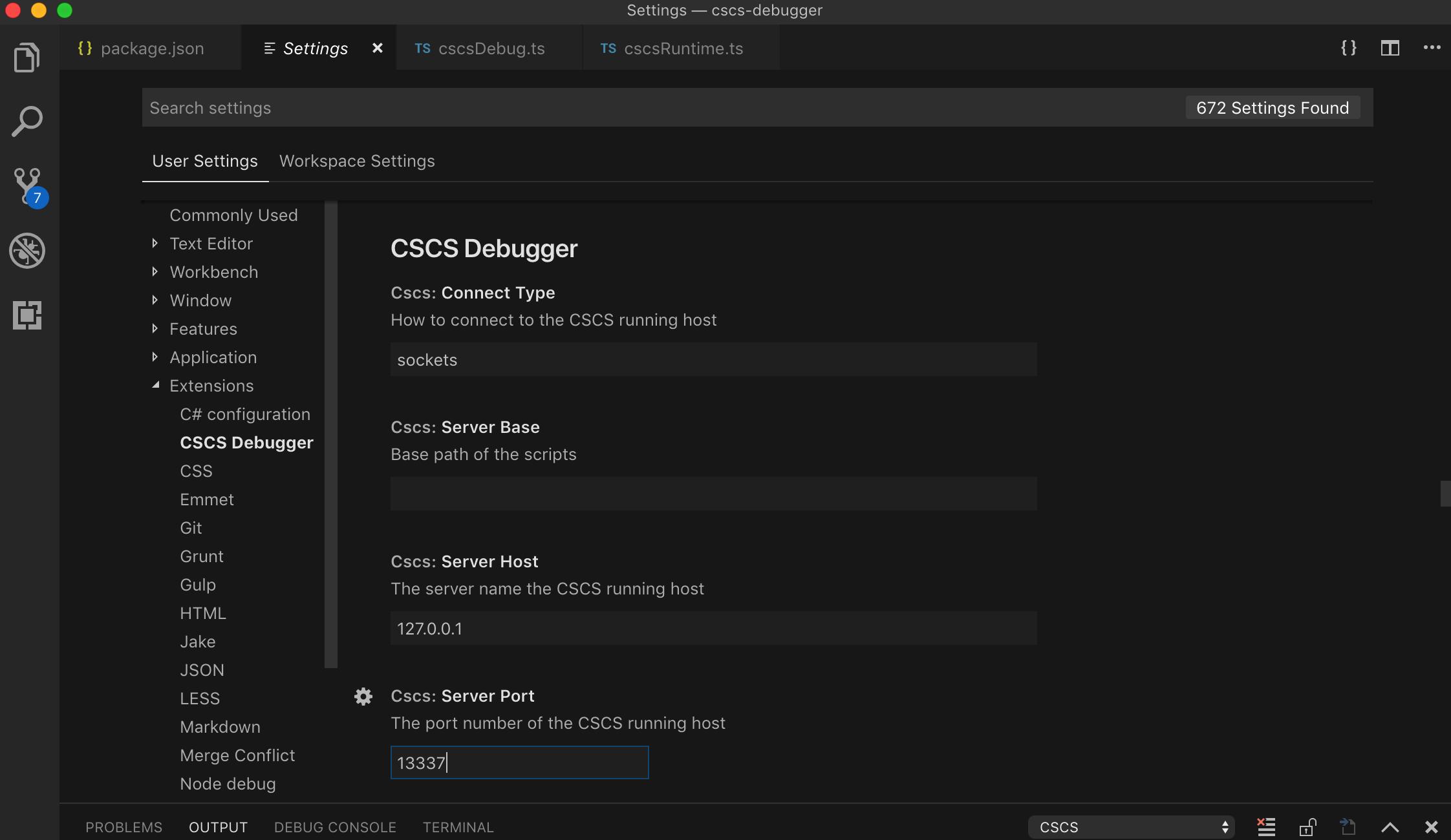 Configuring Debugger