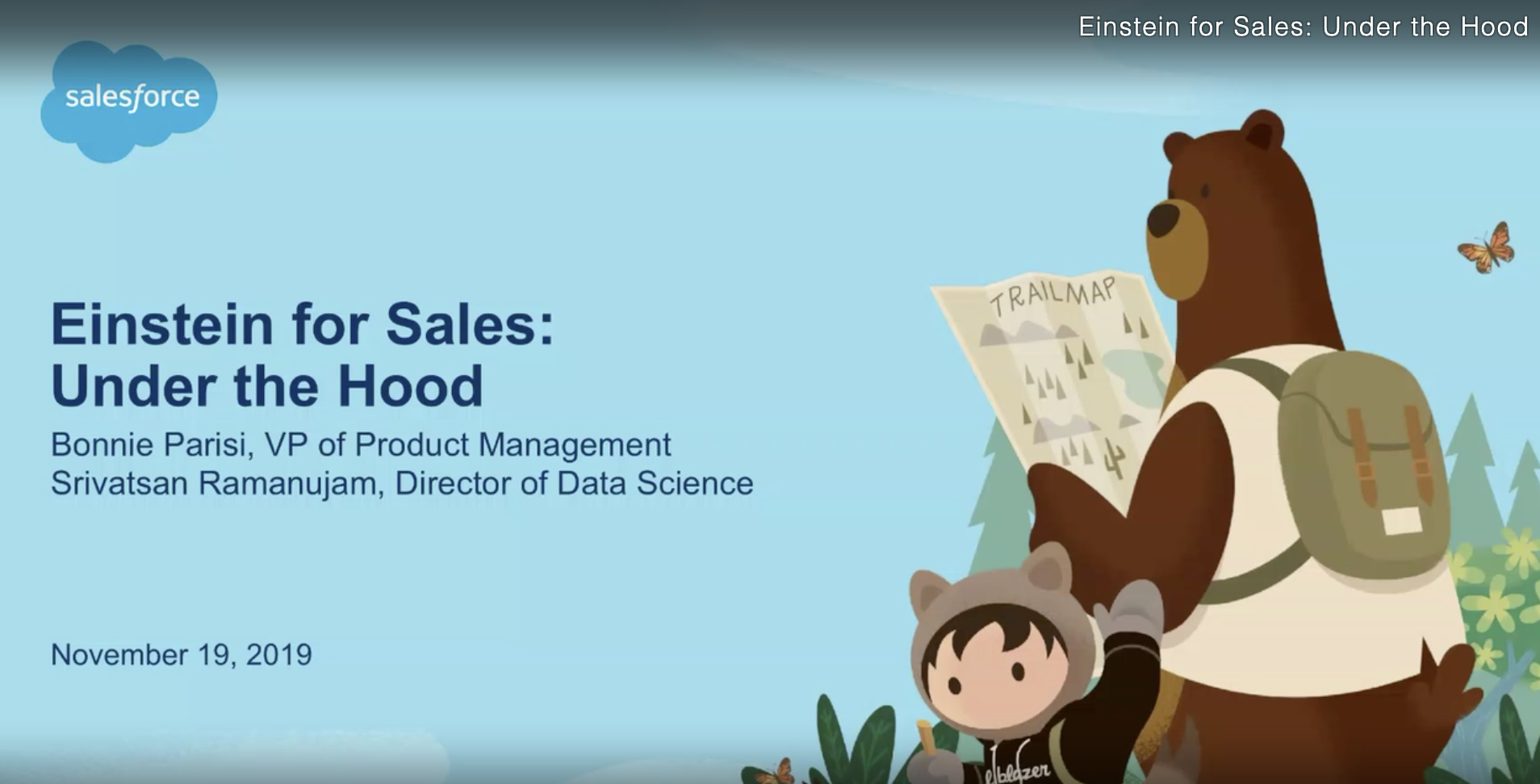 Einstein for Sales: Under the Hood (Dreamforce 2019 Breakout Session)