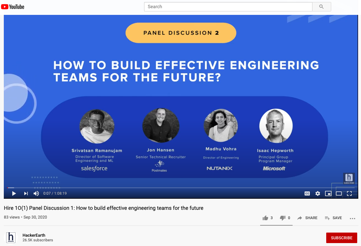 Hiring 101 - HackerEarth Panel Discussion
