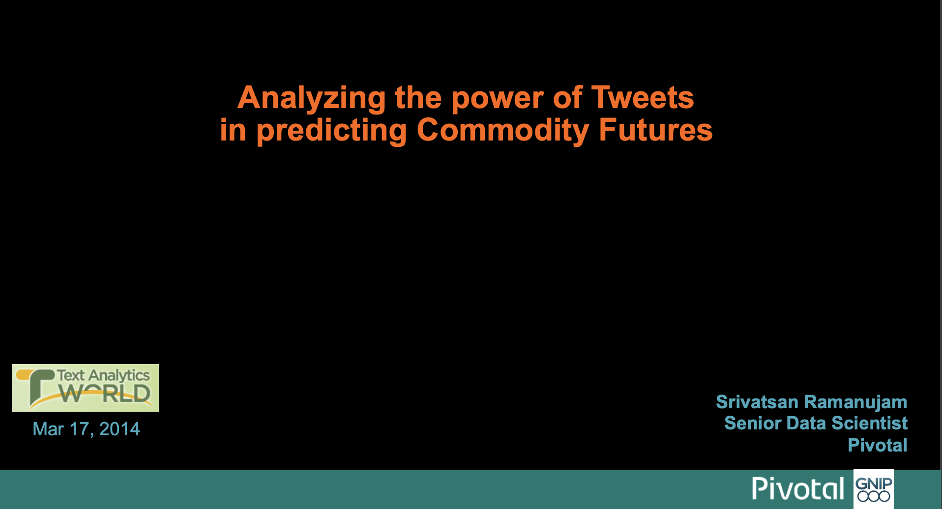 Predicting Commodity Futures with Twitter