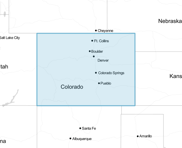 Colorado drawn in Leaflet