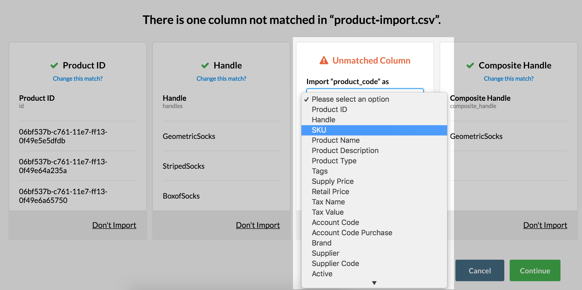How do I Create and Import a Product List for Vend using a