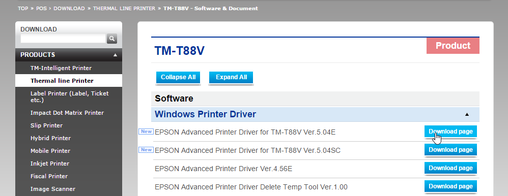 How do I set up my Epson TM-T88V Printer to work on a