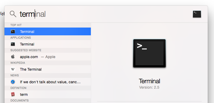 how to find information about network mac terminal