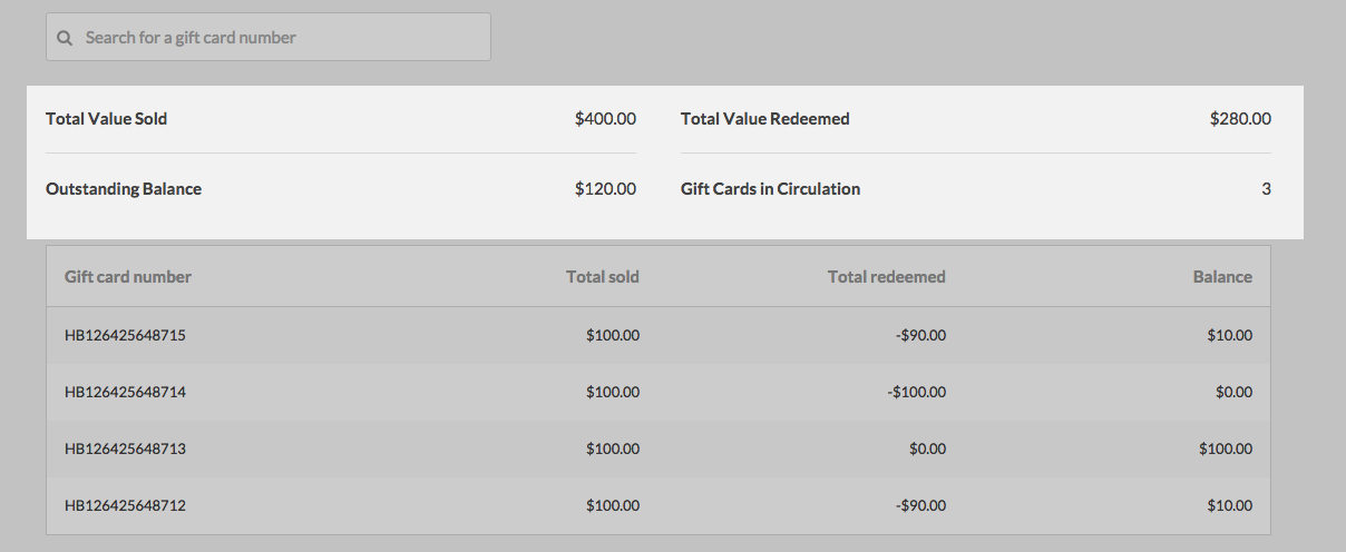 Gift Card Reports How Can We Help