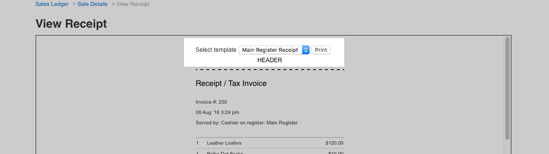Revenue Receipt Cycle Word Using The Vend Sales Ledger  How Can We Help Receipt Image Word with Iphone Email Read Receipt Excel Alternatively You Can Use The Select Template Drop Down To Change To A  Different Receipt Template Before Printing Simple Invoice Templates