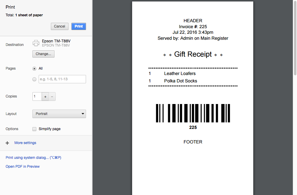 Received Wedding Gift Without Card : Gift Receipts in Vend for Mac and PC How can we help?