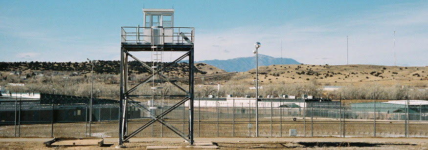 Image: Huerfano County Correctional Facility, built in 1997 and operated as a private prison by Corrections Corporation of America. Closed in 2010.