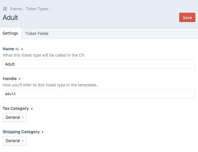 Ticket Types Edit