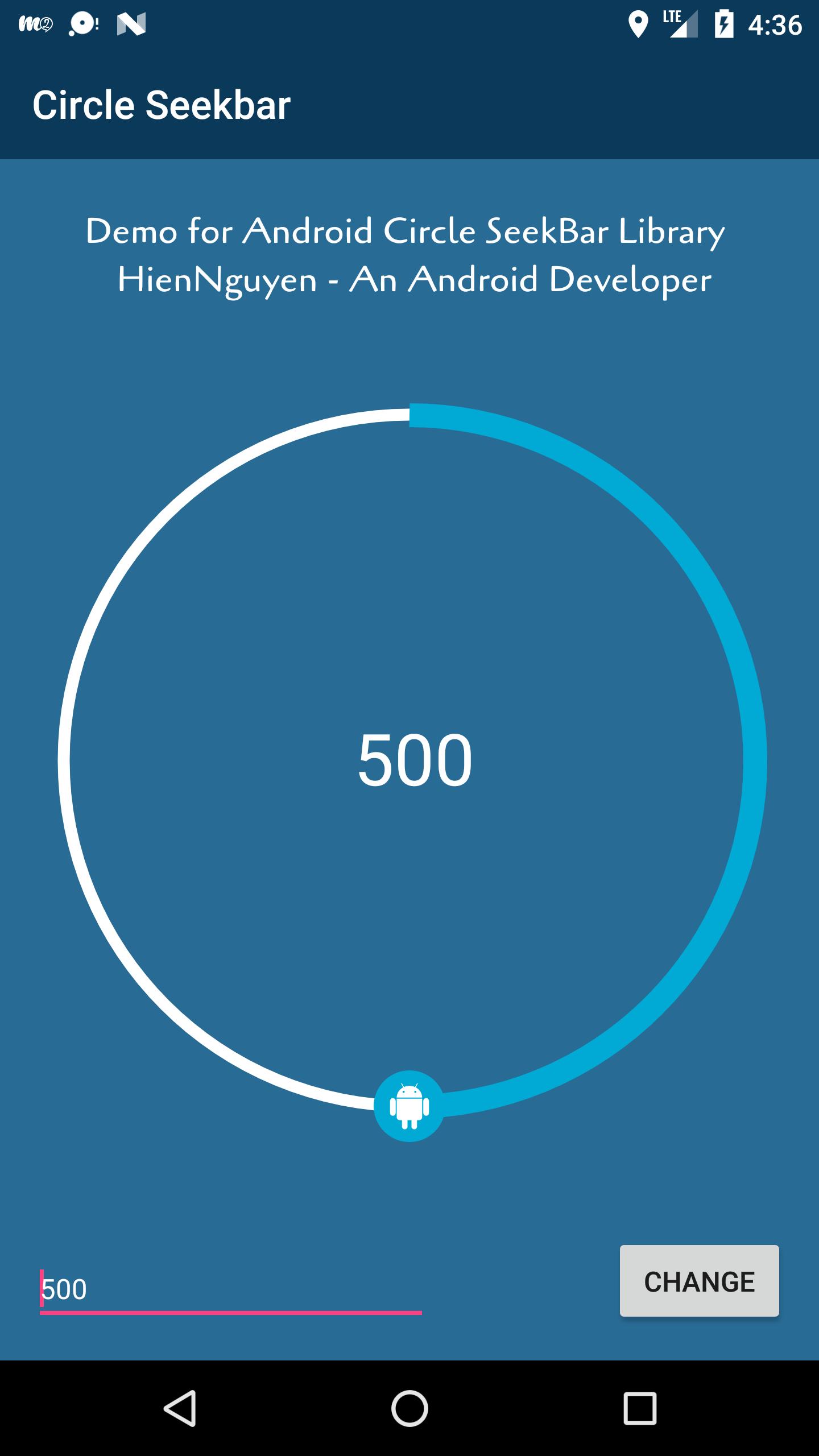 GitHub - vhnguyen1001/android-circle-seekbar: An Circle Seekbar for
