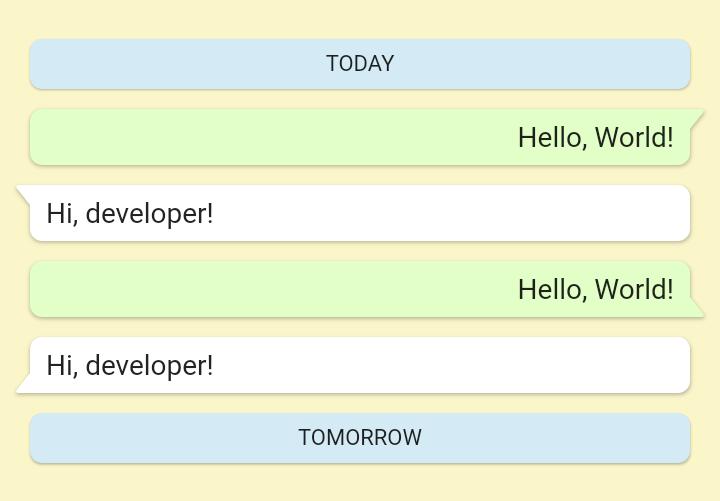 Flutter Chat Design Widget Like Whatsapp