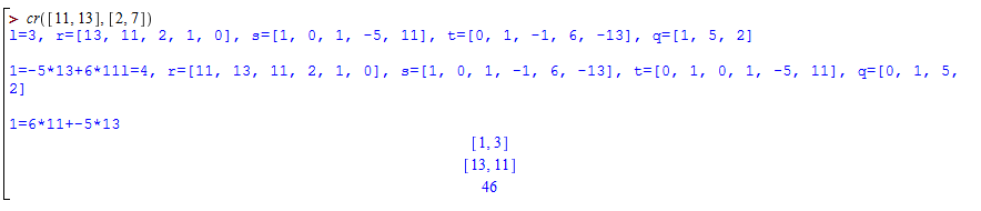 alt Chinese remainder examples