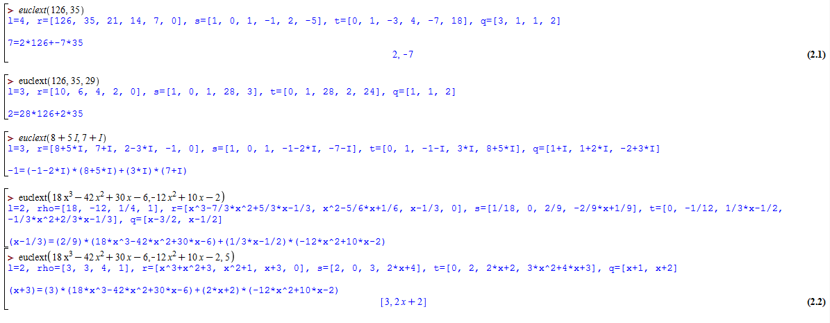alt Extended Euclides examples