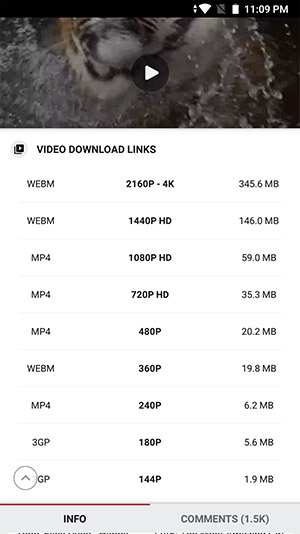 Stream of download muziek en videos in HD, Full HD, 4K