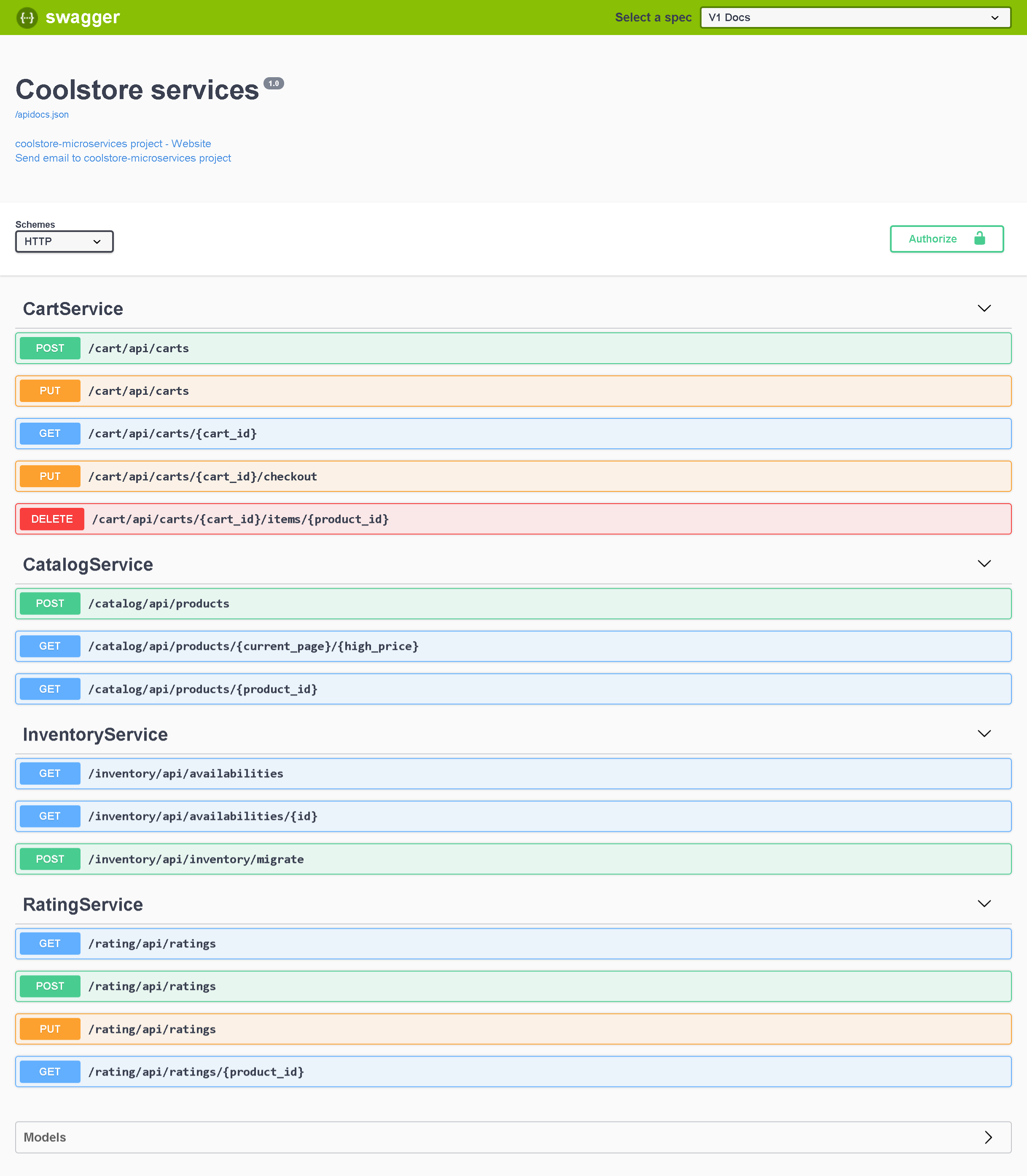 OpenAPI Screenshot