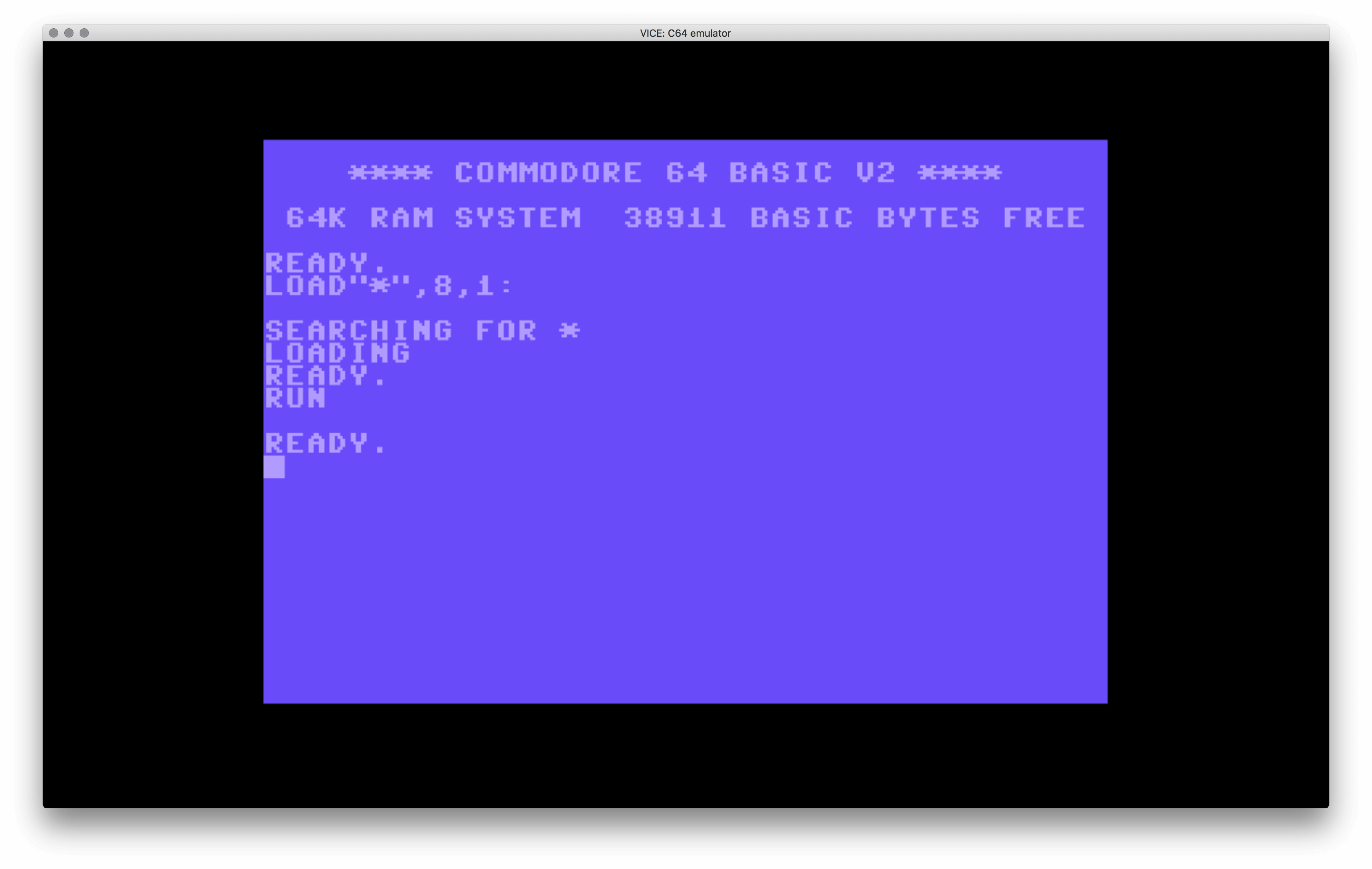 Example running code