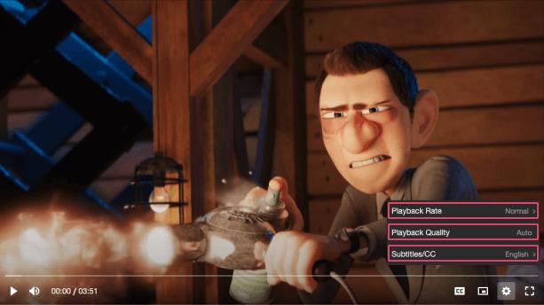 Vime settings menu item component