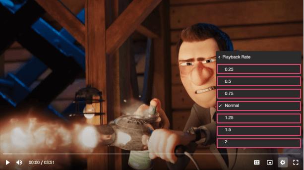 Vime settings menu radio component